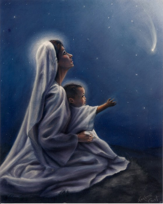 Mary & Child at Night